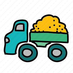 baby, box, play, sand, toy, truck, vehicle icon