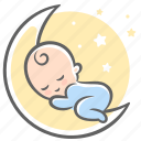 baby, dream, moon, sleep, sleeps, sweet, sweet dream icon