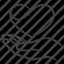 care, hand, heart, love, valentine
