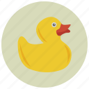 baby, child, duck, game, play, rubber, toy icon