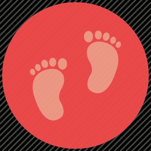 baby feet, foot print icon