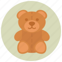 animal, bear, child, pregnancy, teddy, toy