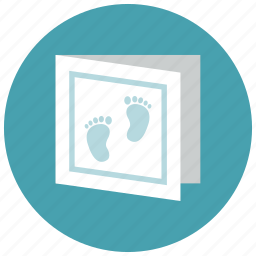 baby card, baby foot print, pregnancy icon