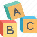 alphabet, blocks, abc, children, language, baby, toy