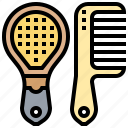 barber, beauty, comb, hairbrush, hairdresser icon