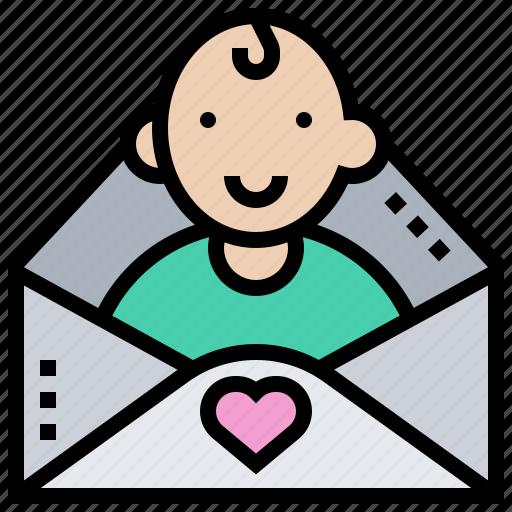 Baby, birthday, invitation, kid, letter icon - Download on Iconfinder