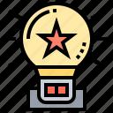 bedroom, bulb, lamp, nightlight, star icon