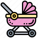 baby, carriage, pushchair, stroller, trolley icon