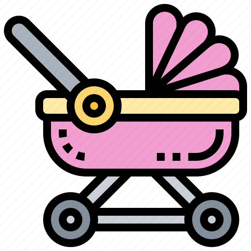 Baby, carriage, pushchair, stroller, trolley icon - Download on Iconfinder