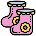 accessory, clothes, feet, kids, socks icon