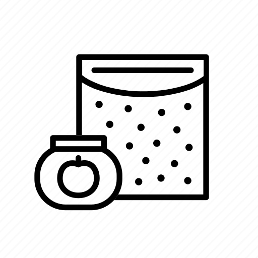 apple, box, bw, cereal, food, puree, solids icon