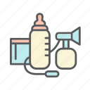 baby, bebe, bottle, breast pump, feeding, formula, milk, newborn icon