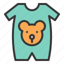wearing, new born, bear, baby, clothes, baby wear