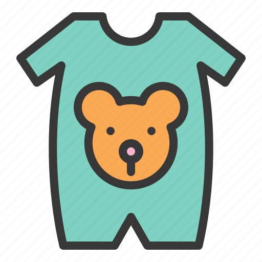 Baby, bear, clothes, new born, wearing, baby wear icon - Download on Iconfinder