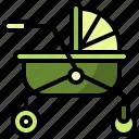 baby, buggy, carriage, crib, kid, pram, pushchair icon