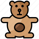 baby, bear, children, fluffy, kid, puppet, teddy icon