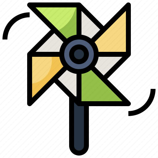 Mill, pinwheel, toy, wind, windmill icon - Download on Iconfinder