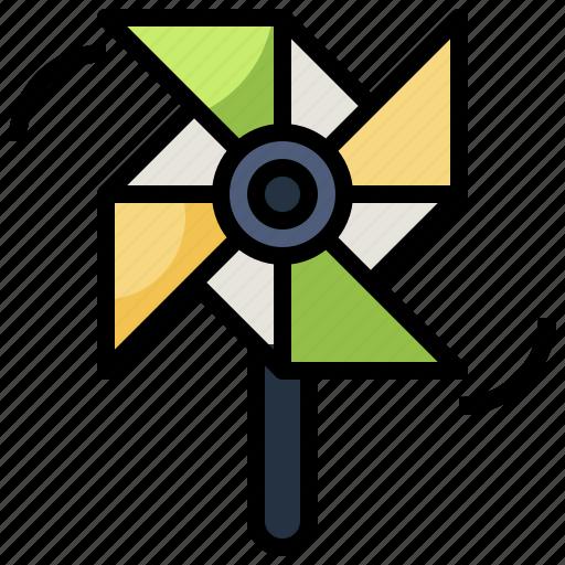 mill, pinwheel, toy, wind, windmill icon