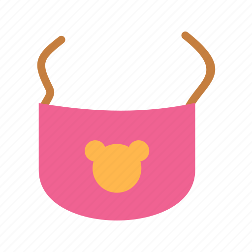 baby, bib, bibs, clip, infant, mealtime, milk icon