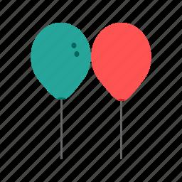 art, balloon, birthday, celebration, decoration, happy, play icon