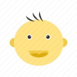 baby, child, cute, face, happy, small, smile icon