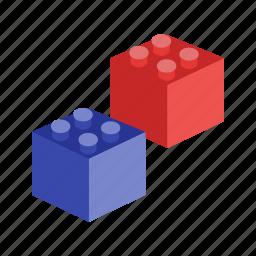 block, blocks, brick, building, cube, play, toy icon