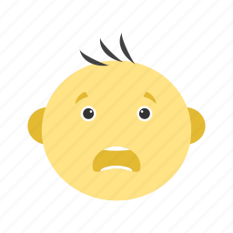 baby, child, cry, crying, cute, face, small icon