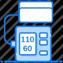 blood pressure apparatus, bp apparatus, bp checker, bp machine, sphygmomanometer icon
