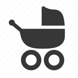 baby, baby stroller, newborn, pram, raw, simple, stroller icon