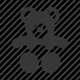 baby, newborn, raw, simple, teddy bear, teddybear icon