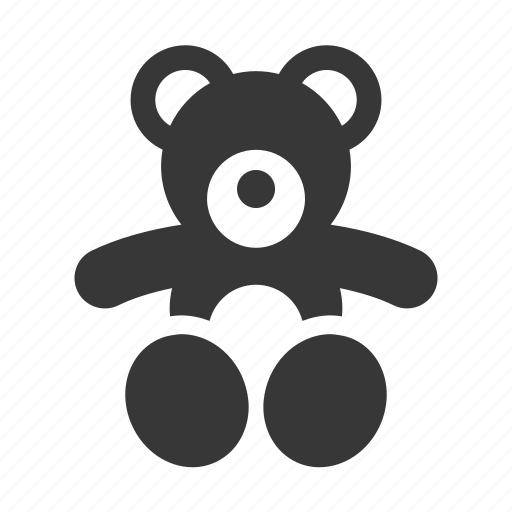 baby, newborn, raw, simple, teddy bear, teddybear icon