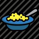 feeding, eat, spoon, fork, baby