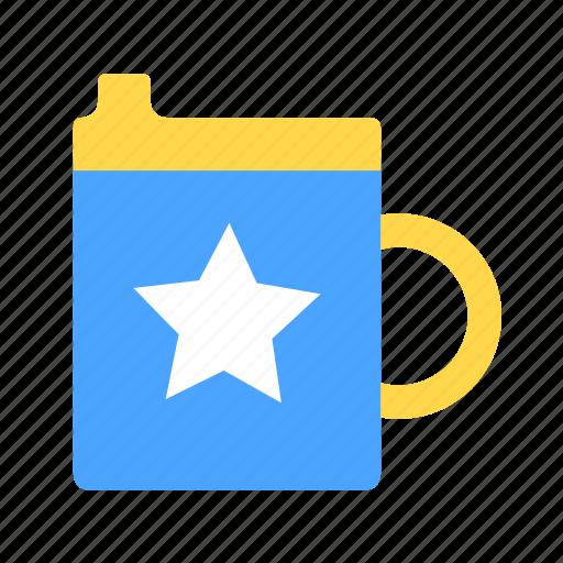 babies, baby, bottle, drink, kid, mug, star icon