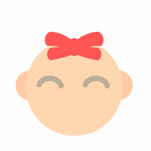 babies, baby, daughter, emoticon, female, girl, kid icon