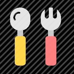 babies, baby, eat, feed, kid, spoon, tools icon