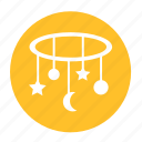 babies, baby, kid, moon, planet, star, toys icon