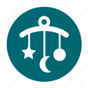 babies, baby, game, kid, moon, star, toys icon
