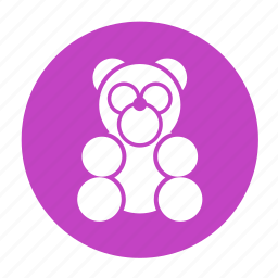 babies, baby, bear, doll, kid, panda, toys icon