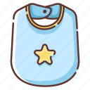 apron, baby, bib, child, childhood, clothes, newborn icon
