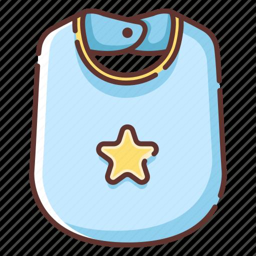apron, baby, bib, child, childhood, clothes, newborn icon