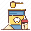 baby, child, infant, milk, newborn, nutrition, powder icon