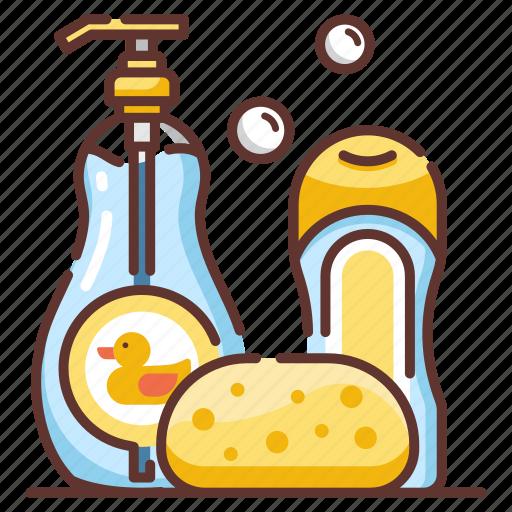 Baby, bath, child, kid, shampoo, shower, soap icon - Download on Iconfinder
