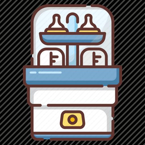 Baby, bottle, milk, sanitize, steam, sterilize, sterilizer icon - Download on Iconfinder