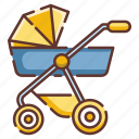infant, strollers, perambulator, newborn, carriage, child, baby icon