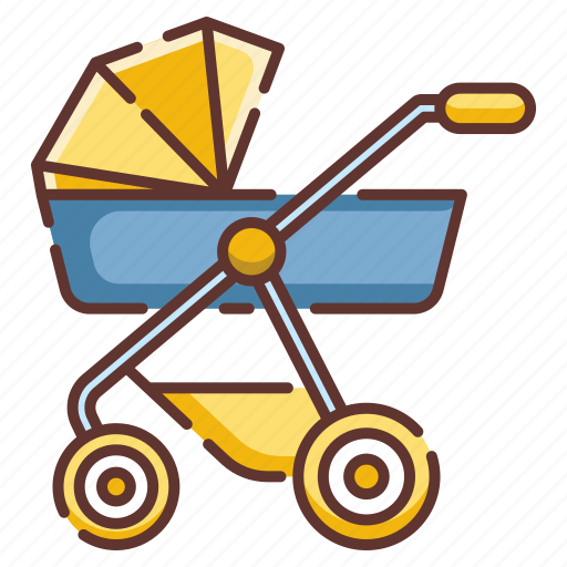 baby, carriage, child, infant, newborn, perambulator, strollers icon
