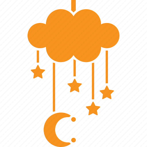 Bed canopy, cloud, moon, star icon - Download on Iconfinder