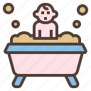 baby, bath, child, hygiene, tub icon