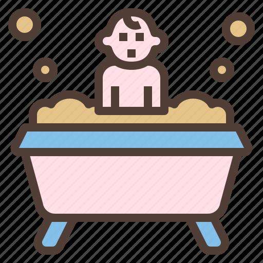 baby, bath, child, hygiene, tub icon