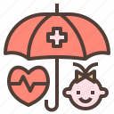 baby, health, insurance, protection icon