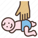 baby, body, hand, massage icon